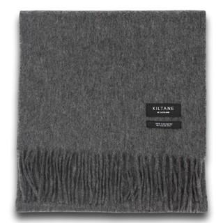 Kiltane 纯灰色羊绒围巾