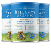 BELLAMY'S 贝拉米 新款有机婴幼儿配方奶粉 1段 900克*3罐