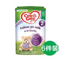 Cow&Gate 英国牛栏 婴幼儿奶粉 2段 800g*6罐装