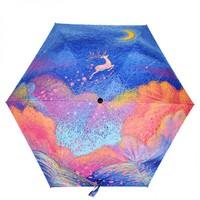 Realbrella锐乐·晴雨两用黑胶三折折叠迷你伞·2色选
