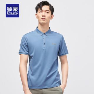 ROMON 罗蒙 男士商务休闲短袖T恤中青年套头T恤衫夏季新款纯色透气POLO衫
