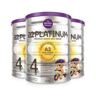 A2 白金系列 婴幼儿配方奶粉 4段 900g*3罐
