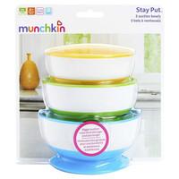 Munchkin 麦肯齐 满趣健 婴儿防摔吸盘碗 3个装