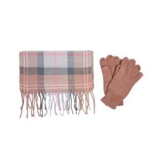 Barbour 女士围巾+手套套装