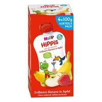 凑单品、银联爆品日:HiPP 喜宝 HiPPIS水果吸吸乐 草莓香蕉苹果味 100g*4件