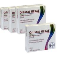 Hexal Orlistat 奥利司他 控油瘦身硬胶囊 84粒*3盒+消脂控油胶囊 42粒