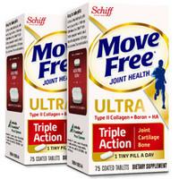 Move Free 益节维骨力骨胶原蛋白软骨素 白瓶 75粒  *2件