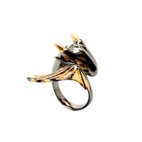 MONVATOO 黑骑士龙戒指