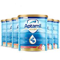 Aptamil 爱他美 金装 婴幼儿配方奶粉 4段 900g *6罐