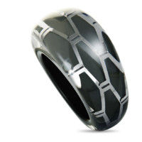 "Calvin Klein 卡尔文·克莱 KJ2SAR5601-07 ""抽象"" 不锈钢戒指"