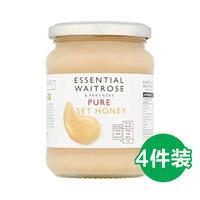 waitrose 纯结晶蜂蜜 玻璃罐装 454g*4瓶