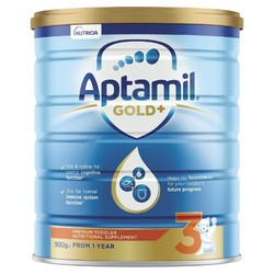 Aptamil 澳洲爱他美 金装加强型婴幼儿配方奶粉 3段 1岁+  900g