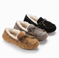 OZWEAR UGG 全真皮羊毛防水内增高豆豆鞋 OB642