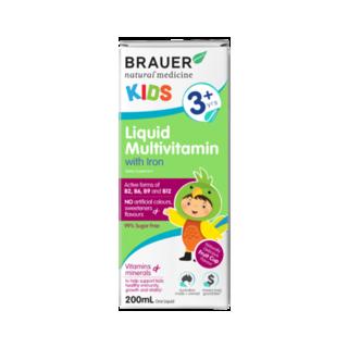 Brauer 儿童复合维生素口服液(含铁)3岁以上 200ml