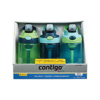 银联专享:CONTIGO/康迪克 儿童防漏运动水杯三件套装(深蓝绿天蓝)414ML