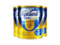 【3罐装】【澳洲直邮】Aptamil 新西兰 爱他美 奶粉金装 3段 1岁以上 900g
