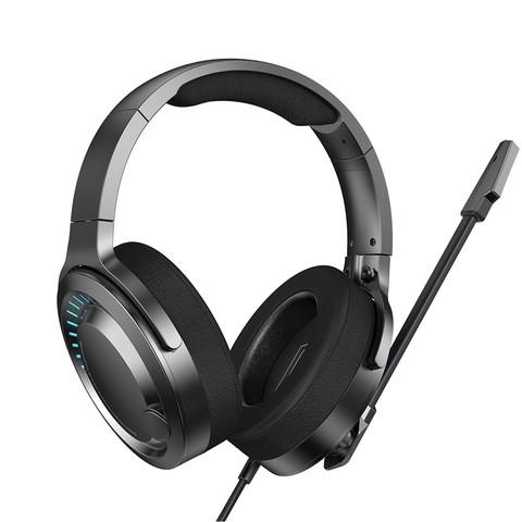 BASEUS 倍思 耳机头戴式电脑电竞游戏台笔记本双耳高音质降噪耳麦适用于绝地求生手游音乐k歌重低音有线带麦克风话筒