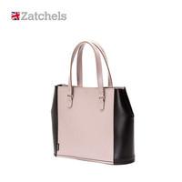 Zatchels 牛皮拼色购物包