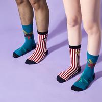 DAPU 大朴 AF0W0200909000 情侣西部马戏团潮流袜 3双装