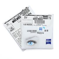 蔡司A系列莲花膜1.60超薄非球面镜片2片+含250元以内纯钛眼镜架