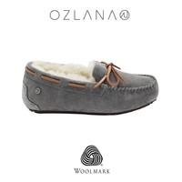 OZLANA UGG 羊皮毛一体防水保暖豆豆鞋