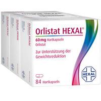 银联专享:Orlistat HEXAL 奥利司他排油胶囊 60mg 84粒*3盒