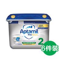Aptamil 爱他美 英国白金版 婴幼儿奶粉 2段 800g 6件装