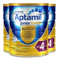 Aptamil 爱他美金装奶粉4段 900g 3罐装