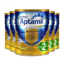 Aptamil爱他美金装奶粉2段 900g*6罐