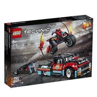 乐高(LEGO)机械组系列42106卡车与摩托车特技表演 保税发货