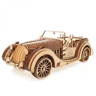Ugears·木质机械传动模型敞篷跑车