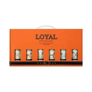 忠诚朋友 智利原瓶进口小瓶红酒6种口味礼盒套装187.5ML*6