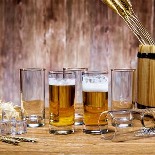 SURANER 无铅玻璃啤酒杯 6个装+送清洗刷