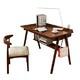 物槿 XL-01 北欧实木书桌 胡桃色单桌 100cm