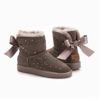OZWEAR UGG 法式蝴蝶结心钻雪地靴