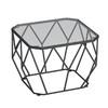 现代简约小茶桌 小户型钢化玻璃茶几 黑框白玻璃60*60*45cm 338元包邮(需用券)