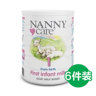 NANNY care 婴幼儿配方羊奶粉 1段 900g 6罐装 £112.34 包邮包税(需用码,约1045元)