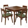 TIMI 天米 北美白橡木餐桌椅组合(浅胡桃色 800方桌+4把椅子) 2499元包邮