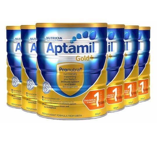 Aptamil 爱他美金装奶粉1段 900g*6罐
