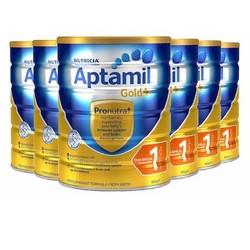 Aptamil 爱他美金装 婴儿奶粉 1段 900g*6罐