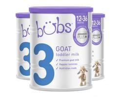 Bubs 贝儿 婴幼儿羊奶粉3段 800g*3罐