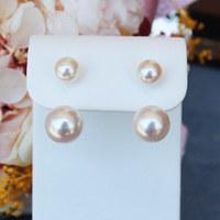 PearlYuumi Akoya海水珍珠 双珠耳环 5-6mm&8-8.5mm