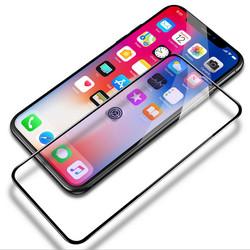 曲面9D膜买一送一!苹果X手机膜超薄高清iPhone XS MAX手机钢化膜全屏全包边XR保护膜