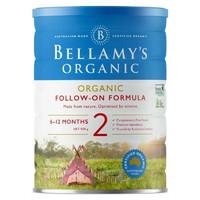 银联专享:Bellamy's 贝拉米 有机婴幼儿配方奶粉(新款) 2段 900g