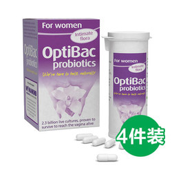 optibac 女性有益菌  缓解妇科炎症 祛瘙痒 30粒*4瓶