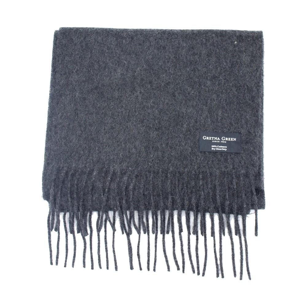 Gretna Green 炭灰色羊绒围巾