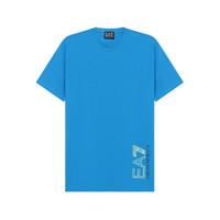 EA7 【21春夏新款】阿玛尼 男士棉质圆领短袖T恤天蓝色 3KPT23 PJ9TZ 1523