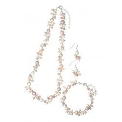 JINKA NEZU 淡水珍珠首饰套装(项链+手链+耳环)
