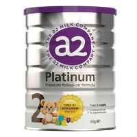 银联专享:a2 艾尔 Platinum白金版 婴幼儿奶粉 2段 900g *2