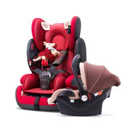 贝贝卡西 汽车儿童安全座椅509(9个月-12岁)静谧丛林+提篮 套装